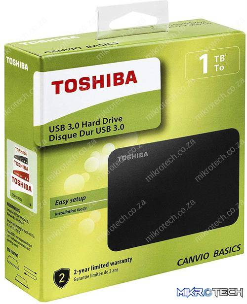 Toshiba Canvio Basics 1TB Portable 2.5 inch USB Powered External Hard Drive