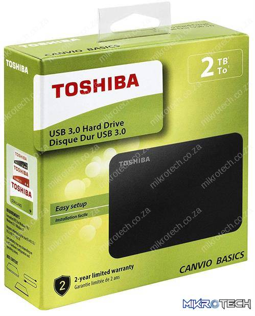 Toshiba Canvio Basics 2TB Portable 2.5 inch USB Powered External Hard Drive