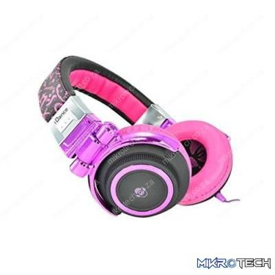 iDance Disco-310 Over-Ear Stereo DJ Headphones - Purple/Black