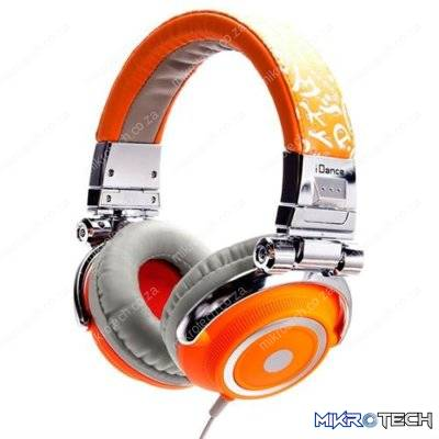 iDance Disco-600 Over-Ear Stereo DJ Headphones - Orange/Grey