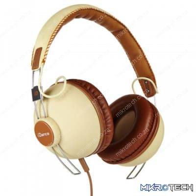 iDance Hipster-701 Over-Ear Stereo Headphones - Beige