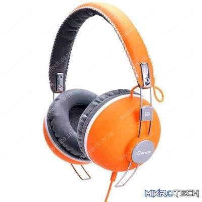 iDance Hipster-704 Over-Ear Stereo Headphones - Orange